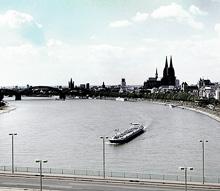 Кельн. Вид на Собор и Рейн с канатной дороги