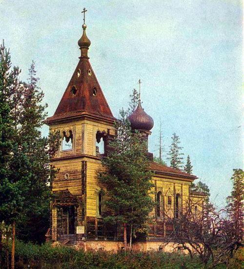 Предтеченский остров. Церковь Иоанна Предтечи. 1858 г.