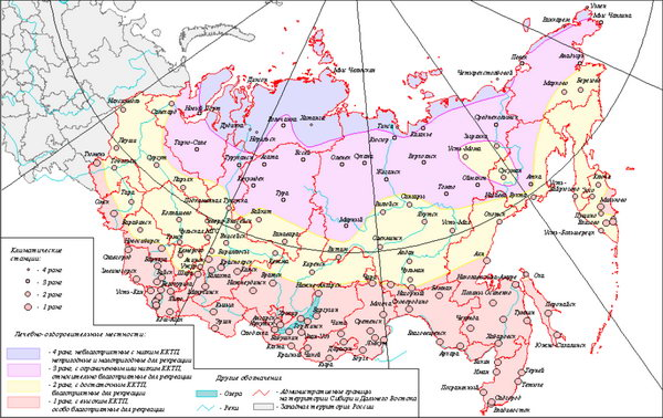 Категорирование территории Сибири и Дальнего Востока по качеству климато-курортологического потенциала